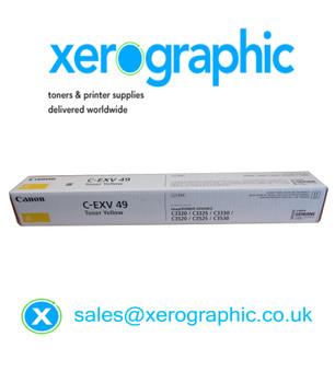 Canon C-EXV 49-Y Genuine Yellow Toner Cartridge (8527B002AA) C3320 C3325 C3330 C3520 C3525 C3530