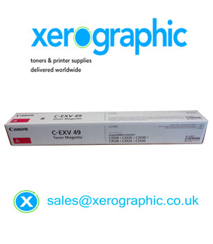 Canon C-EXV 49-M Genuine Magenta Toner Cartridge (8526B002AA) C3320 C3325 C3330 C3520 C3525 C3530
