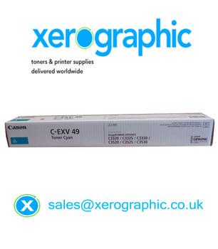 Canon C-EXV 49-C Genuine Cyan Toner Cartridge (8525B002AA) C3320 C3325 C3330 C3520 C3525 C3530