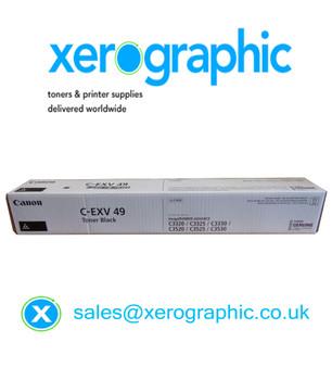 Canon C-EXV 49-BK Genuine Black Toner Cartridge (8524B002AA) C3320 C3325 C3330 C3520 C3525 C3530