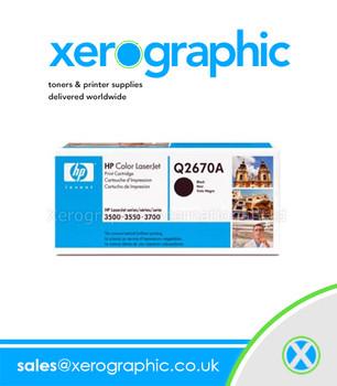 HP 3500 3550 Black LaserJet Print Cartridge - Q2670A
