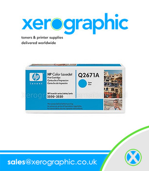 HP 3500 3550 Original Cyan Print Cartridge - Q2671A