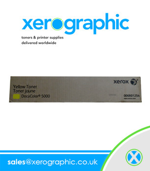 Xerox DocuColor 5000 Yellow Toner Cartridge Genuine Double Pack  006R01254