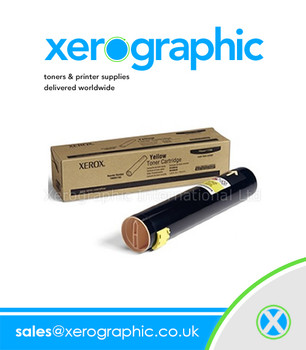 Xerox Phaser 7760 Genuine Metered Yellow Toner Cartridge 106R01166
