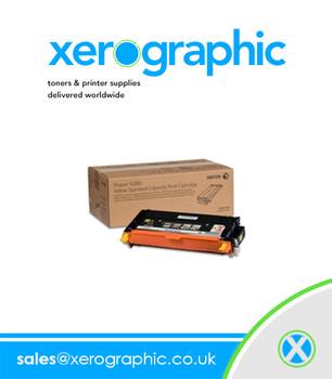 Xerox Phaser 6180MFP Genuine High-Capacity Yellow Toner Cartridge - 113R00725