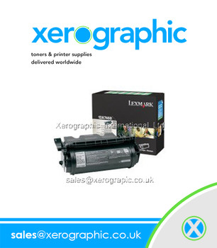 Lexmark 12A7468 Genuine High Capacity Black Toner Cartridge 12A7468