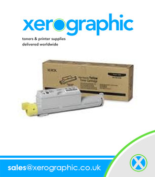 Xerox Phaser 6360 Color Laser Printer Genuine Metered Yellow Toner Cartridge - 106R01224