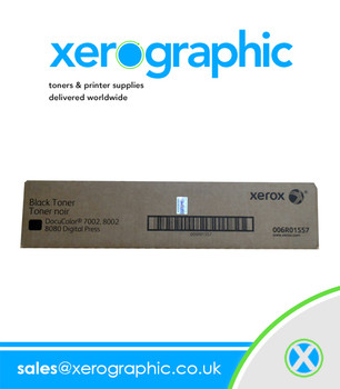 Xerox DocuColor 7002, 8002, 8080 Digital Press Genuine Black Toner Cartridge 006R01557