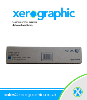 Xerox DocuColor 7002, 8002, 8080 Digital Press Genuine Cyan Toner Cartridge 006R01558