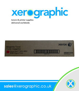 Xerox DocuColor 7002, 8002, 8080 Digital Press Genuine Magenta Toner Cartridge 006R01559
