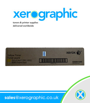 Xerox DocuColor 7002 8002 8080 Digital Press Genuine Yellow Toner Cartridge 006R01560