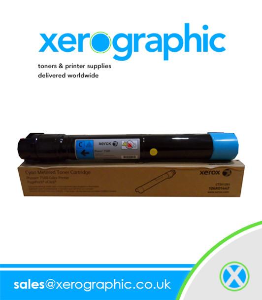 7500 Phaser Color Printer Genuine Xerox Metered Cyan Toner Cartridge 106R01447 106R1447