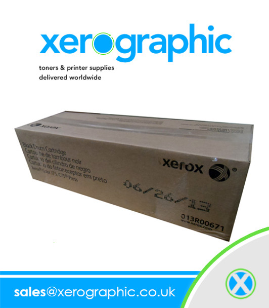 Xerox Color DC700 DC700i J75 C75 Press  Genuine Black Drum Cartridge 013R00671 13R671 013R00655