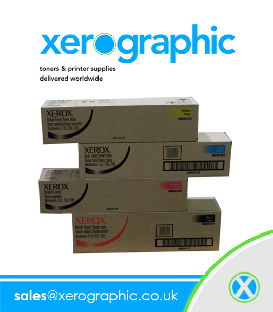 WorkCentre WC 7132 7232 7242 Xerox Genuine CYMK Full Set Toner Cartridge - 006R01317 006R01263 006R01264 006R01265