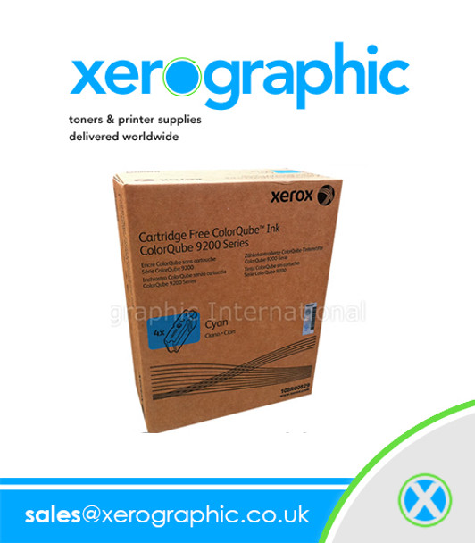 Genuine Xerox Cyan Wax 108R00829 ColorQube 9201 9202 9203 9301 9302 9303 108R829