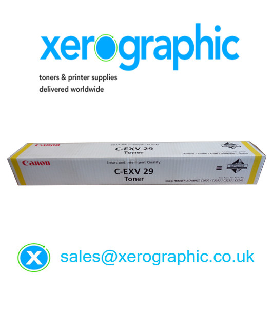Canon C-EXV 29-Y Genuine Yellow Toner Cartridge 2802B002AB C5030 C5035 C5235 C5240