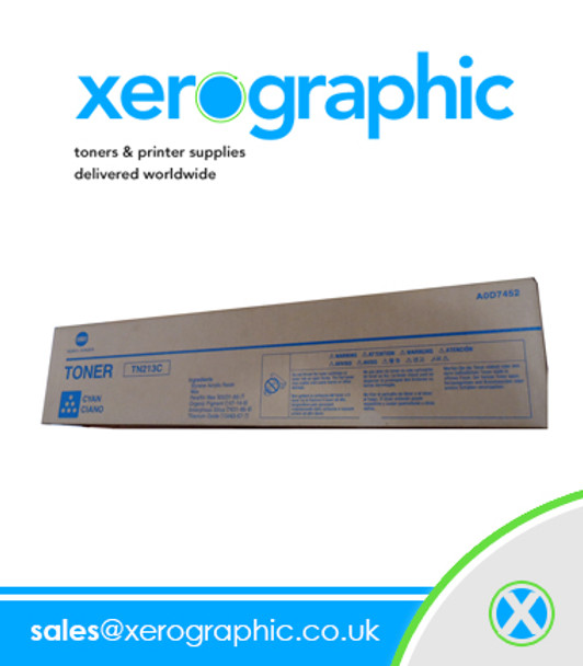Konica Minolta Genuine Cyan Toner Cartridge TN213C A0D7452
