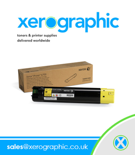 Xerox Genuine Yellow Standard Capacity Toner Cartridge Phaser 6700 106R01505