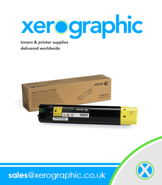 Xerox Phaser 6700 Genuine Page Pack Yellow Toner Cartridge 106R01521 106R1521