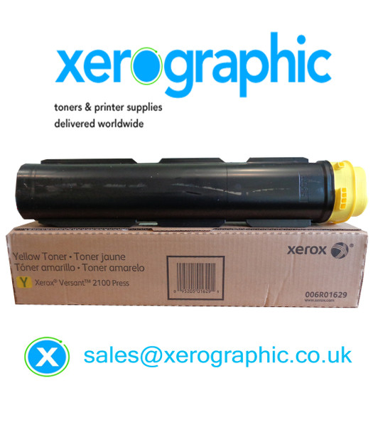 Xerox Versant 2100 / 3100 Press Genuine Metered Yellow Toner Cartridge 006R01629