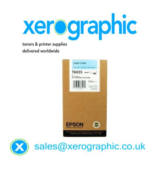 Epson Stylus Pro 7880, 9800, 7880, 9880, High Capacity Genuine Light Cyan (220ml) Ink T6035, C13T603500