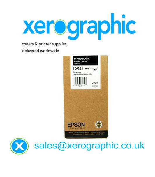 Epson Stylus Pro 7800,9800, 7880, 9880, Genuine Photo Black Ink Cartridge T6031
