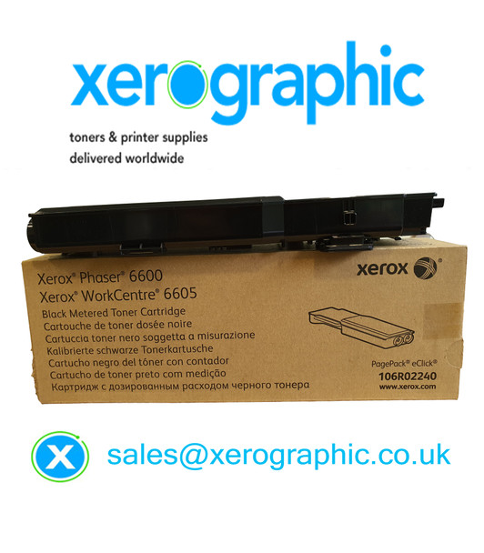 Xerox Phaser 6600, VersaLink C400, C405 Genuine Black Metered Toner Cartridge, 106R02240