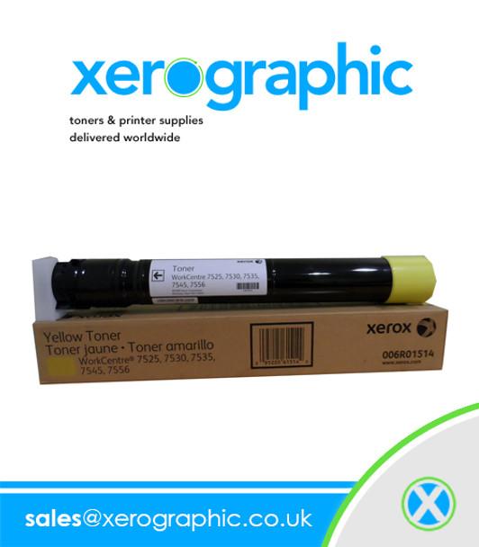 006R01514 Xerox Genuine Yellow Toner Cartridge WorckCentre 7556 7830 7835 7840 7855 7970