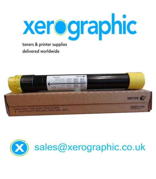 Xerox AltaLink C8030, C8035, C8045, C8055, C8070 Genuine Yellow Toner Cartridge 006R01700