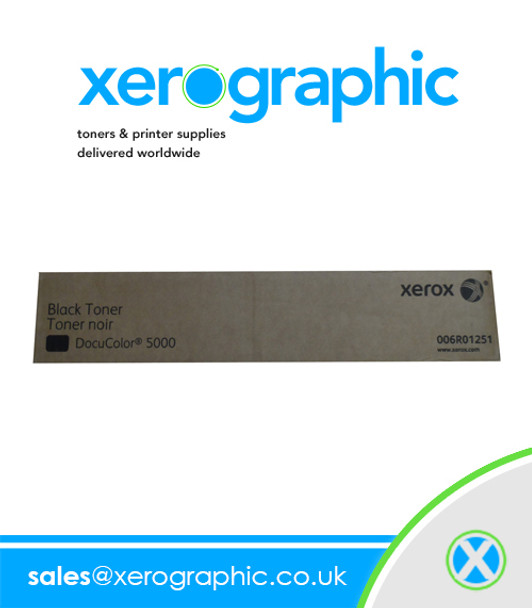 Xerox DocuColor DC 5000, Genuine Black Toner Cartridge  006R01251 6R01251 6R1251