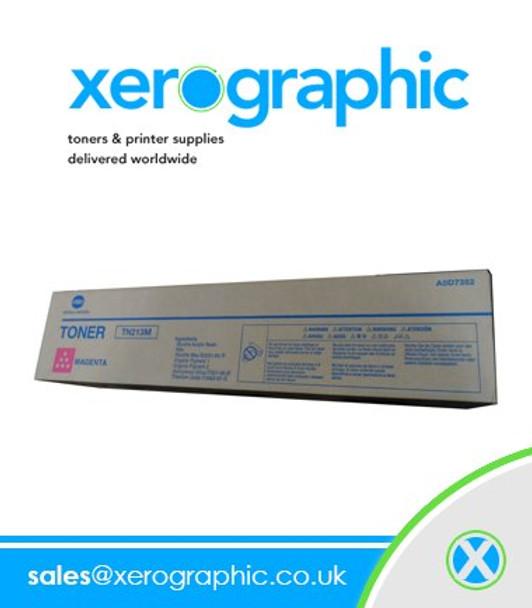 Genuine Konica Minolta Magenta Toner Cartridge Bizhub Press C1000 Series, TN619M, A3VX330