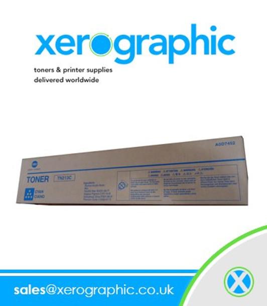 Konica Minolta Genuine Cyan Toner Cartridge Bizhub Press, C1000 Series, TN619C, A3VX430, TN-619C