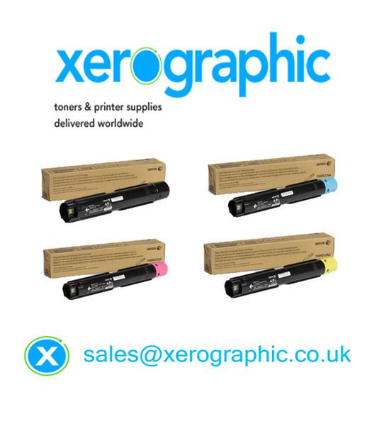 Xerox VersaLink C7000DN C7000N Genuine CYMK Toner Cartridge 106R03757, 106R03758, 106R03759, 106R03760