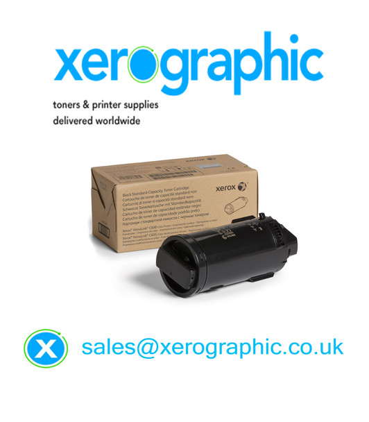 Xerox Versalink C500, C505, Genuine Black Metered Toner Cartridge 106R03858