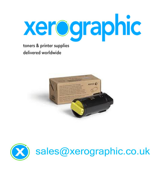 Xerox Versalink C500, C505, Genuine Metered Yellow Toner Cartridge 106R03857