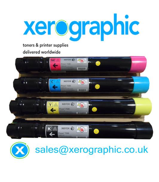 Xerox Versalink C7020, C7025, C7030, Genuine CYMK, H/C Toner Cartridge 106R03741, 106R03742, 106R03743, 106R03744