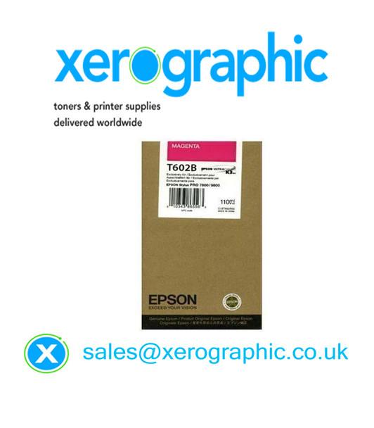 Epson Stylus Pro 7880/9880 High Capacity Genuine Magenta (110ml) Ink Cartridge T602B, C13T602B00