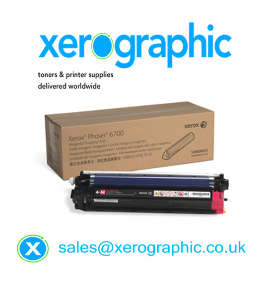 Xerox Genuine Magenta Print Cartridge Phaser 6700, (50,000 Pages Print) 108R00972