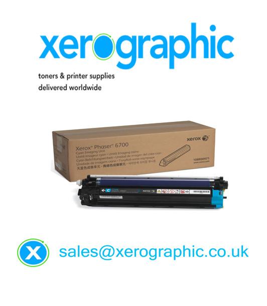 Xerox  Phaser 6700 Genuine Cyan Drum Cartridge (50,000 Pages Print) 108R00971, 108R971