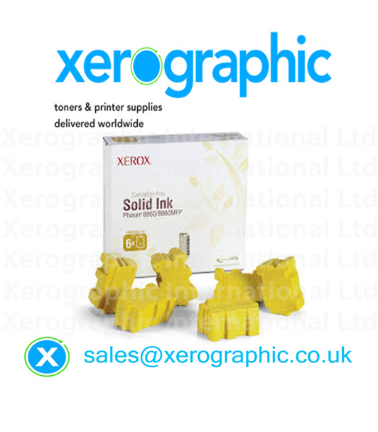 Xerox Phaser 8860, 8860MFP Genuine Yellow Wax Ink, 108R00748