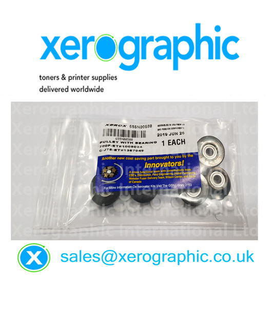 Xerox DCP 700, 700i, 770, C75, J75, Genuine Duplex Idler Pulley Bearings Rebuild Kit, 655N00588 (655N588)