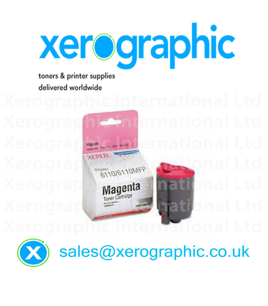 Xerox 6110, 6110MFP, Genuine Magenta Toner Cartridge 106R01272