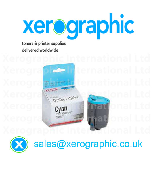 Xerox 6110MFP, Genuine Cyan Toner Cartridge (1000 Pages) 106R01271