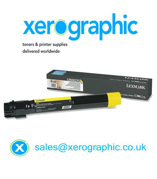 Lexmark C950 Genuine Extra High Capacity Yellow Toner Cartridge - (C950X2YG)
