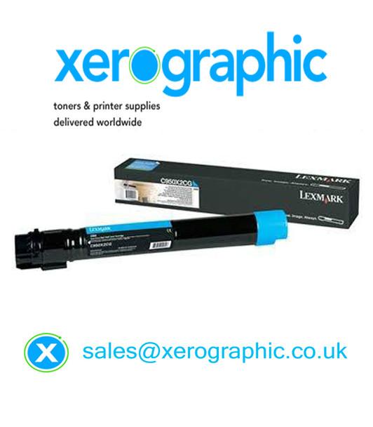 Genuine Lexmark Extra High Capacity Cyan Toner Cartridge C950X2CG