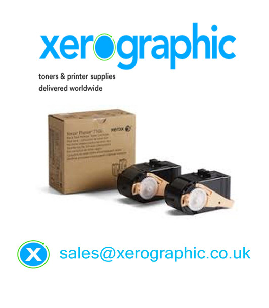 Genuine Xerox Phaser 7100 Black Toner Cartridge Twin Pack 106R02605