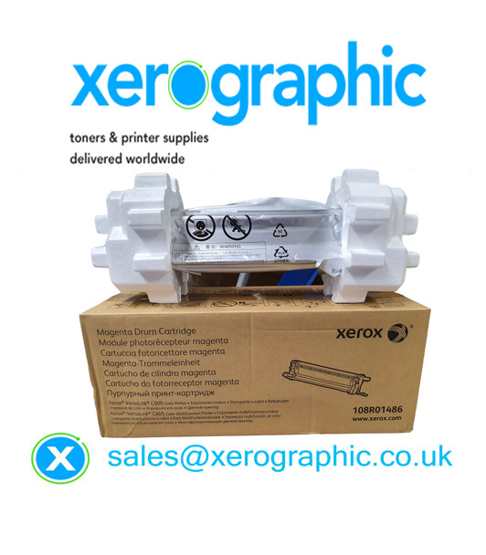 Xerox VersaLink C600, C605, Genuine Magenta Drum Cartridge 108R01486