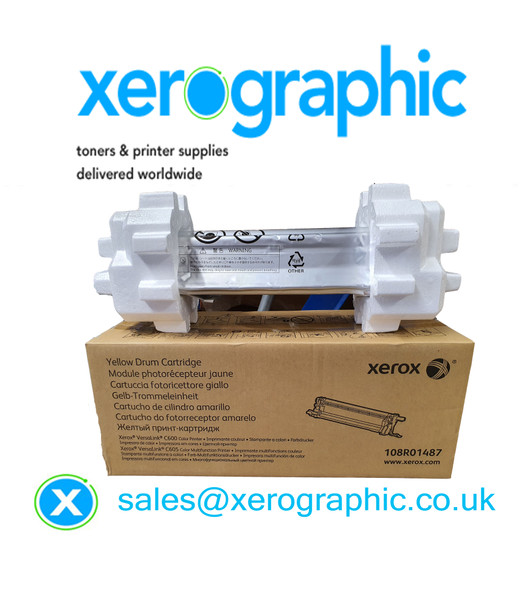 Xerox VersaLink C600, C605, Genuine Yellow Drum Cartridge 108R01487
