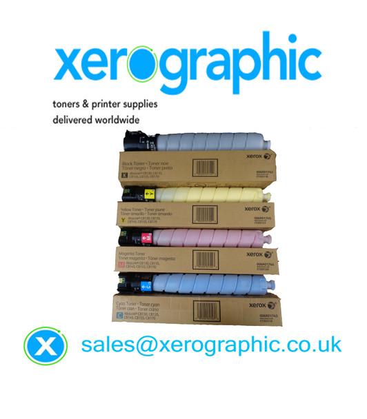 Xerox AltaLink C8130, C8135, C8145, C8155, C8170 Genuine CYMK Metered Toner Cartridges 006R01742, 006R01743, 006R01744, 006R01745