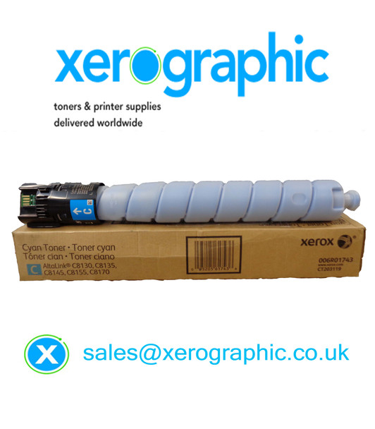 Xerox AltaLink C8130, C8135, C8145, C8155, C8170 Genuine Cyan Toner Cartridge 006R01743 (21,000 Pages)